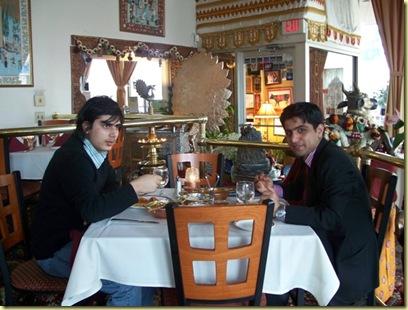 Indian dinner with Kshitiz