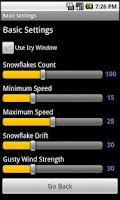 Screenshot of Holiday Snow Live Wallpaper LT