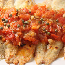 Broiled Tilapia with Tomato Caper Sauce