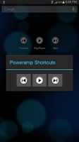 Screenshot of Poweramp Media Shortcuts