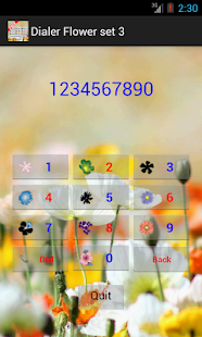 Dialer Flower 3 - screenshot