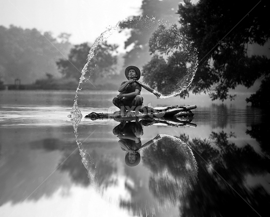 by DODY KUSUMA  - Black & White Street & Candid ( black and white, b&w, landscape,  )