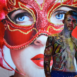 by Balachandar Dev - People Body Art/Tattoos ( colors, body art, painting, people, portrait, body paint )