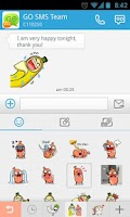 Screenshot of GO SMS Pro Bobo&Banana Sticker