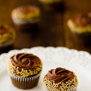Chocolate Rum Cupcakes with Chocolate Mousse Frosting