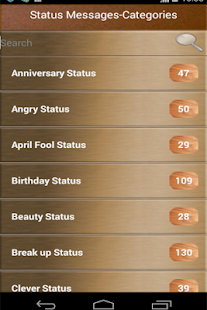 Status Messages Collections - screenshot