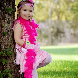 Pink Pocahontas by Ali Reagan - Babies & Children Child Portraits ( little girl, pocahontas, outdoors, costume, cute )