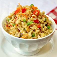 Spicey Egg and Vegetable Fried Rice