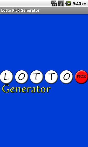 Lotto Pick Generator