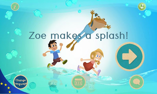 Zoe makes a splash