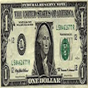 One dollar icon