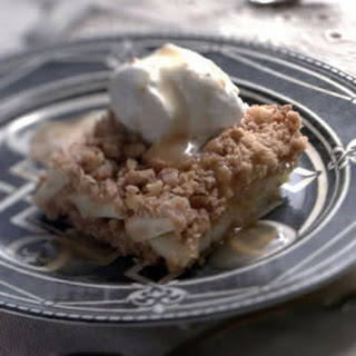 Apple Crumb Squares with Apple Cider Sauce