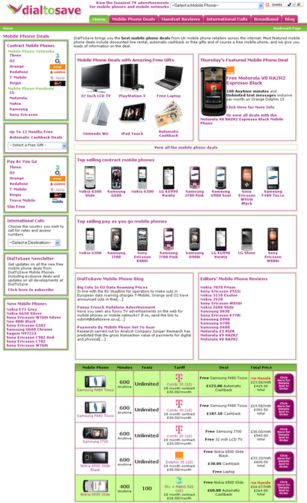 dialtosave homepage