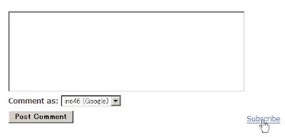 '埋め込み型コメントフォーム' で 'フォローアップコメント' 用のリンクをクリックしている画像
