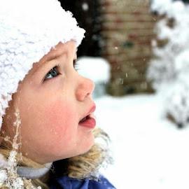 White hat and snow by Sarah Beth - Babies & Children Children Candids