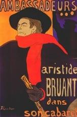Toulouse Lautrec-Ambassadeurs Aristide Bruant dans son cabaret