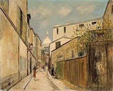 Utrillo-La Rue Saint-Rustique