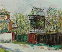 Utrillo-Le Moulin de la Galette à Montmartre