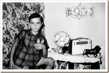 Juan niño con pájaros