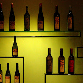 An enchanting show case! by Anoop Namboothiri - Food & Drink Alcohol & Drinks ( wine, famous, spanish, lighting, showcase, alcohol, glass, anoop namboothiri, display, drinks, winery,  )