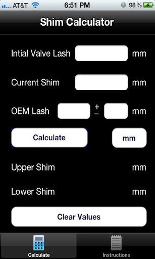 Shim Calculator