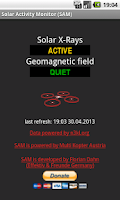 Screenshot of Solar Activity Monitor (SAM)