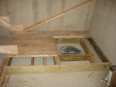 A place to stand once the sump is covered.