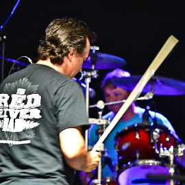 by Jan Herren - People Musicians & Entertainers ( music, red river band, drummer, musician, fiddle )