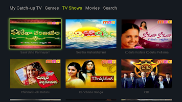 Screenshot of YuppTV for GoogleTV
