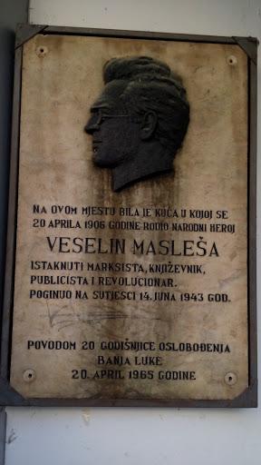 Spomen Ploča Veselinu Masleši