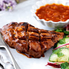 Flat Iron Steaks With Barbecue Sauce