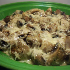 Mushroom Gratin With Asiago Cheese
