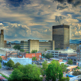 Asheville in the Mountains by David Warlick - City,  Street & Park  Skylines ( hdr, asheville, cityscape, ashevillenc )