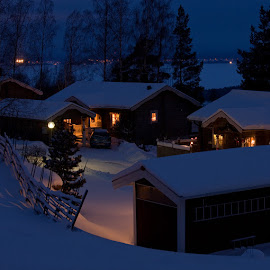 X-mas time by Claes Wåhlin - Buildings & Architecture Homes ( sweden, winter, x-mas, snow, orsa,  )