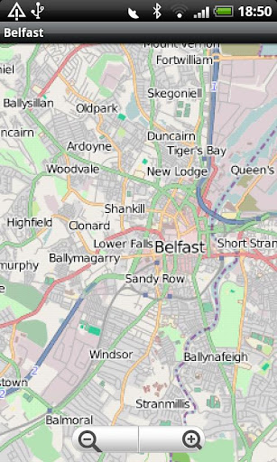 Belfast Street Map