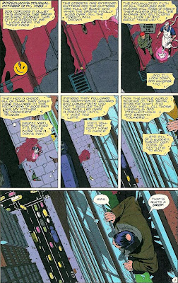 Primera página del primer número de Watchmen (Vigilantes)