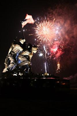 Fireworks Iwo Jima Memorial
