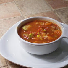 Garden Tomato Vegetable Soup