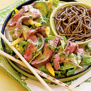 Ginger Beef Salad with Miso Vinaigrette