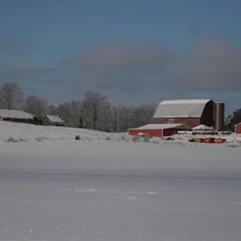 farm land by Doyle Barnes - Landscapes Prairies, Meadows & Fields ( farm, nature, seasons, art )