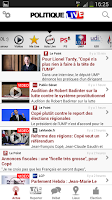 Screenshot of Politique Live