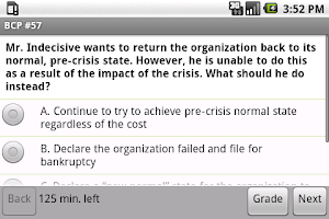 Screenshot of Business Continuity Exam Prep