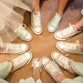 Fresh kicks by Jess Anderson - Wedding Details ( shoes, bridesmaids, wedding, converse, bride )