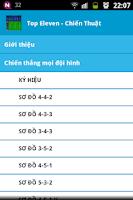 Screenshot of Top Eleven - Chiến thuật