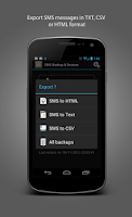 Screenshot of SMS Backup & Restore