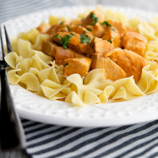 Chicken Paprikash over Dumplings