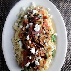 Greek Beef Orzo