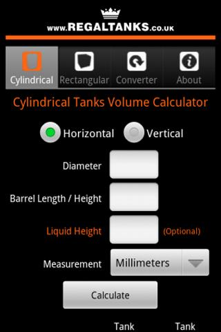 Tank Volume Calculator