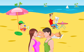 Screenshot of Beach Kiss Kiss