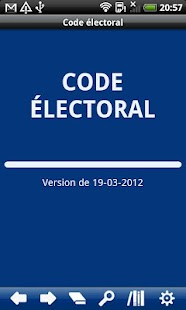 French Electoral Code - screenshot